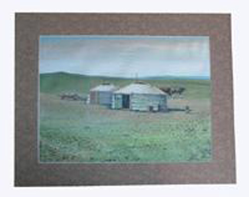 Oil painting: Families living in the steppe, ref. PAI-08-00-010