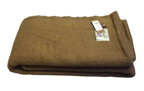 Camel wool blanket made by Gobi factory