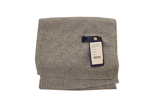 Fine-gauge woven fabric scarf. Made by Gobi of 100% pure cashmere. Handwash and dry flat .
